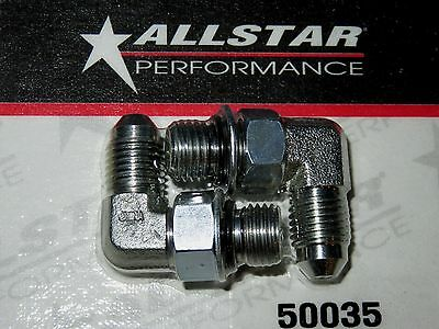 Allstar Brake Caliper Fitting 716  20 to  4AN 90 Degree 2pk ALL50035