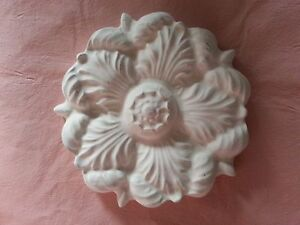 Architectural plaster flower pediment embellishment wall ceiling decor plaque