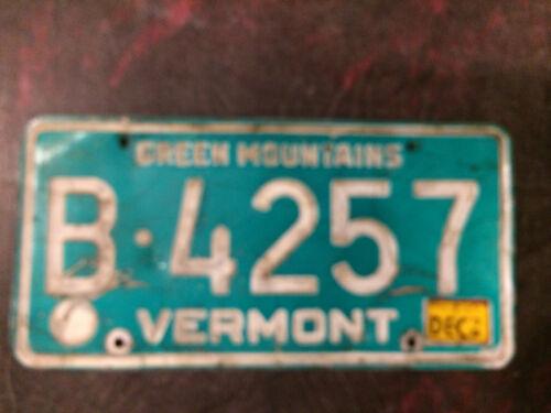Vintage Vermont License Plate