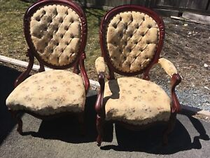 2 Victorian antique chairs