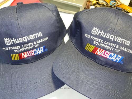 2 Husqvarna NASCAR Navy Baseball Caps Hats Adjustable Snap