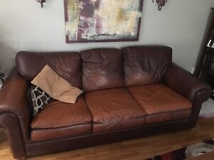 Real Leather Couch Set