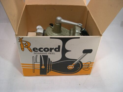 Vintage Record Spinning Reel with Original box. - Made in Switzerland