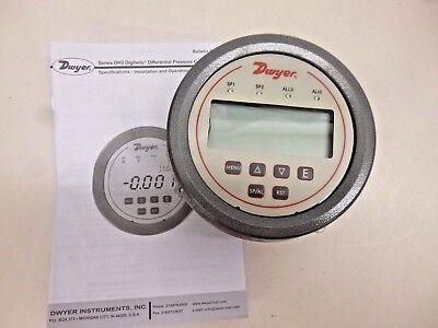 New Dwyer Instruments Digital Panel Pressure Meter Dh3-006