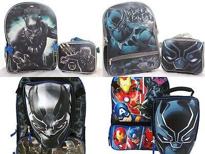 Marvel Black Panther Boy Backpack Bookbag Lunch Box School Kids Toy Gift Avenger