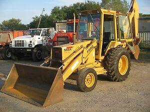 Ford tractors 555a 555b 655a tlb backhoe loader shop service repair