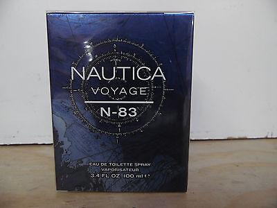 NAUTICA VOYAGE  N - 83 COLOGNE 3.4 OZ / 100 ML NIB  NEW SEALED SPRAY FOR MEN