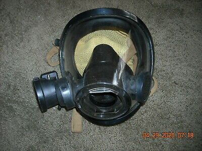 Scott Scba Av-3000 Medium Mask W Voice Amp Firefighter Fireman Kev Netting
