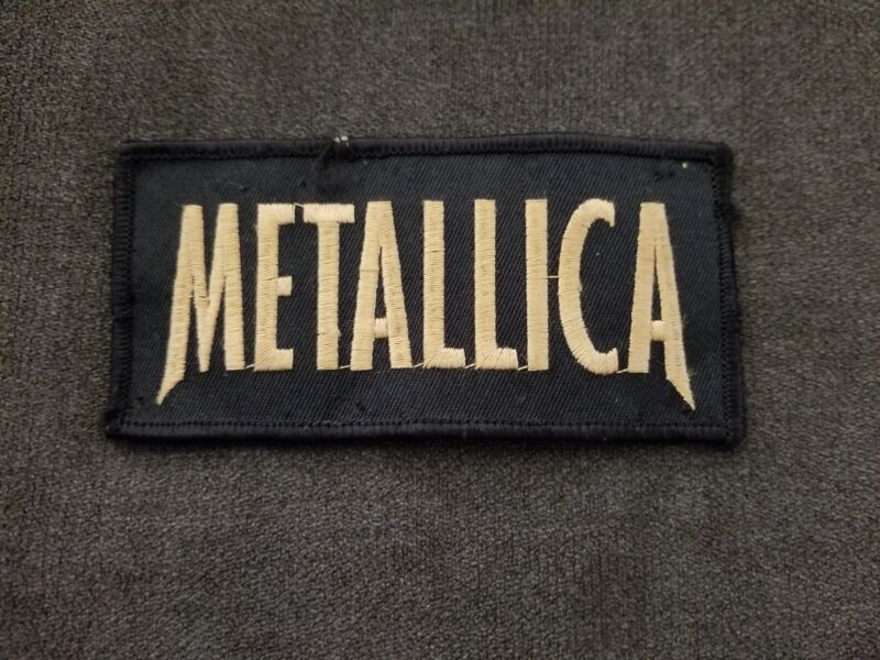 Vintage Original 70s 80s Metallica Back Patch RARE Rectangle Master of Puppets