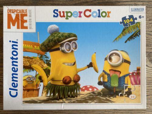Die Minions Puzzle Super Color 104 Teile komplett ab 6 Jahre von Clementoni