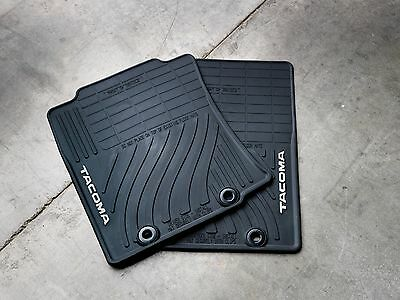 Toyota Tacoma 2012   2015 Black All Weather Rubber Front Floor Mats   OEM NEW
