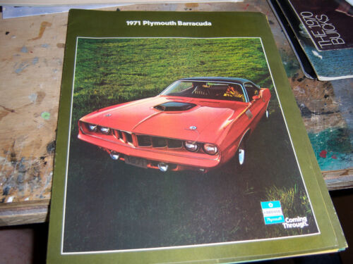 1971 Plymouth Barracuda sales brochure