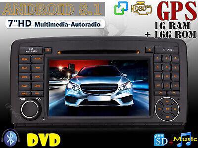 "Für Mercedes Benz R Klasse W251 Android 8.1 7"" HD Autoradio GPS DVD Navi Wifi SD"