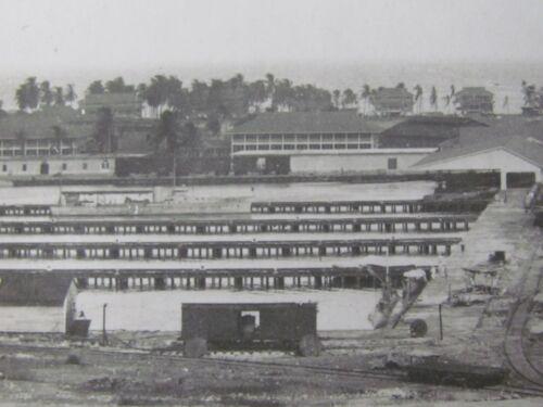 1918 US NAVY SUBMARINE BASE &  AVIATION STATION PHOTO BARRACK - DOCKS , TRAIN