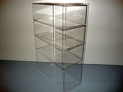 305displays Acrylic Lucite Countertop 12 X 6 X 19 Display Showcase Box Cabinet