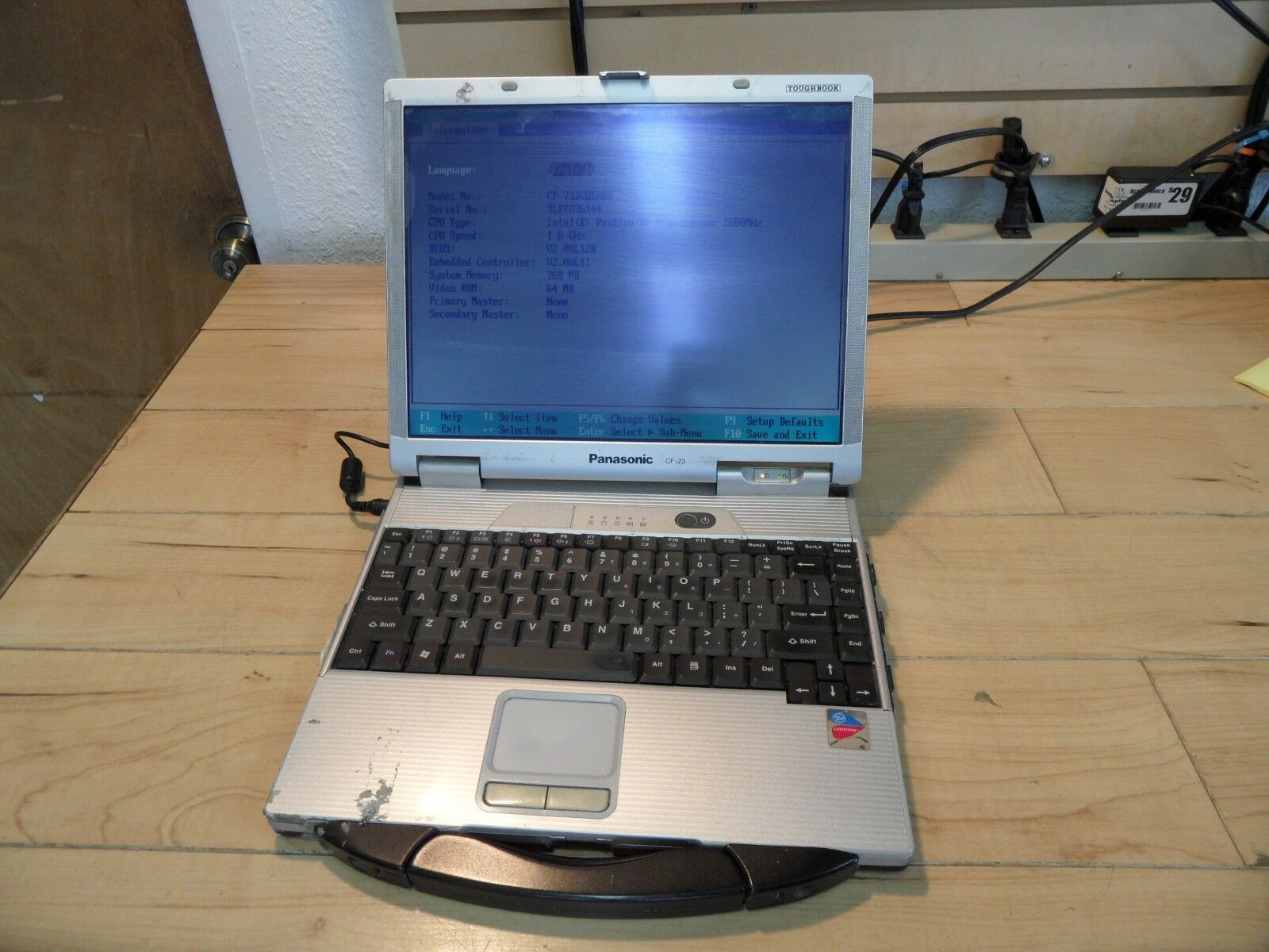 Panasonic Toughbook CF-73 Parts Laptop No Hard Drive Posted Bios