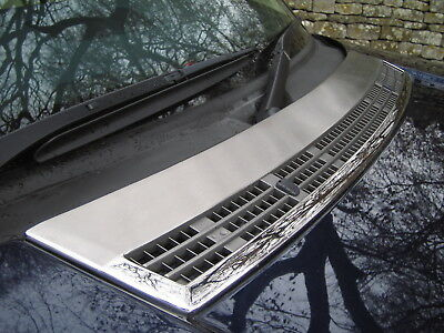 Chrome BONNET VENT air intake COVER for Range Rover L322 Brushed hood grille