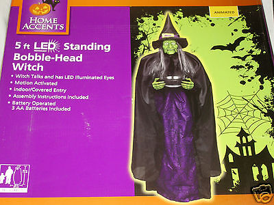Halloween Talking Head (Animated Talking Bobble-Head Wicked Witch Life Size 5' Prop)
