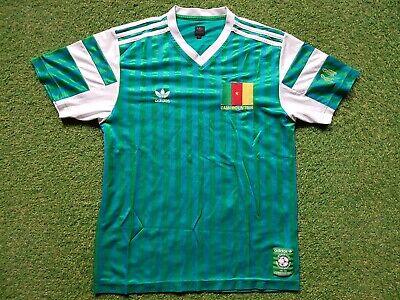 reputable site fa707 92590 Camerounaise Football Shirt M Adidas 1990 Kamerun