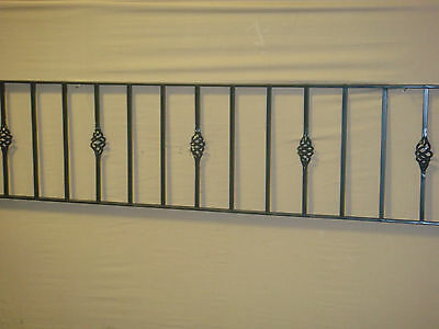 """18"""" HIGH WROUGHT IRON METAL FENCING/RAILINGS PANEL TYPE W18"""