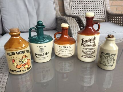 Old Stoneware Whiskey & Rum Jars/bottles