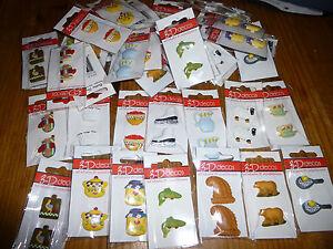Job Lot 42 Cards (x 2) x Assorted 3D Card / Craft Embellishments