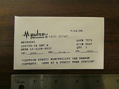 M-pulse Microwave Tunnel Diode Mp2x4641 Nos