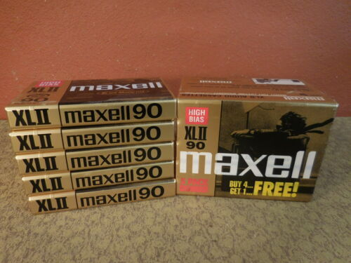 10 Maxell 90 Cassette Tapes High Bias XLII 90 Minutes Blank Sealed Made in Japan