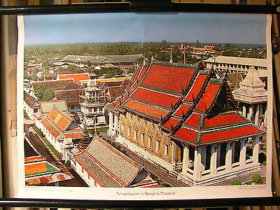 Schulwandbild Mural Image Temple Tempelbauten in Bangkok Thailand Asian 71x51c