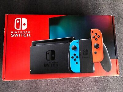 Nintendo Switch Console Neon Red&Blue, Brand New