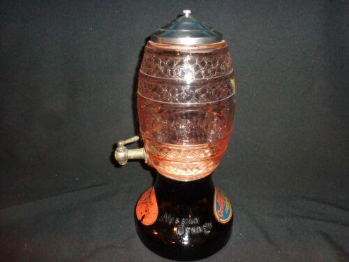 Vintage Mission Orange Counter Top Depression Glass Syrup Dispenser