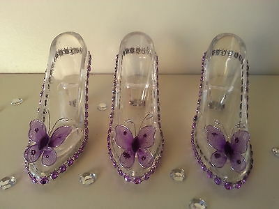 Used, 12 Fillable Cinderella Slippers Favors Birthday Sweet 16 Bridal Shower Wedding  for sale  Highland