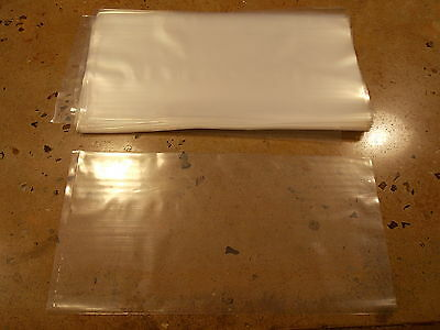 100 4x12 Flat Open Top Clear Poly Bags 4 Mil Ldpe Thick Plastic Live Coral Fish