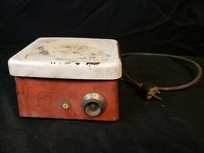 Corning Hot Plate Lab Laboratory Dental Heater Works Warming Tray Vintage Enamel