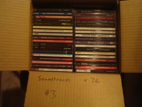 Soundtracks 36 CD lot #3 w/ free shipping!