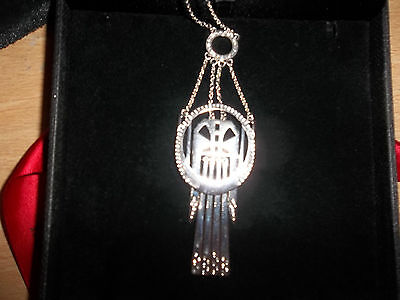 TOP  DESIGNER LUCY Q ART DECO NECKLACE 20 - 24 INCH 925 STERLING SILVER 23 GMS