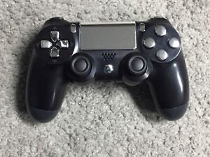 Chrome silver on Black Sony PS4 Controller - $55 (Price is Firm)