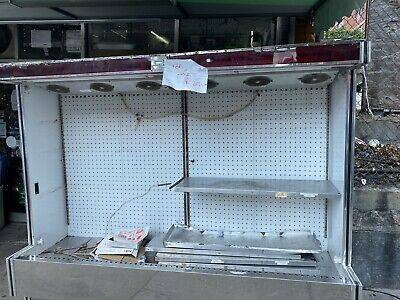 Barker 95 Open Air Refrigerated 8 Multi Deck Grocery Display Case Cooler