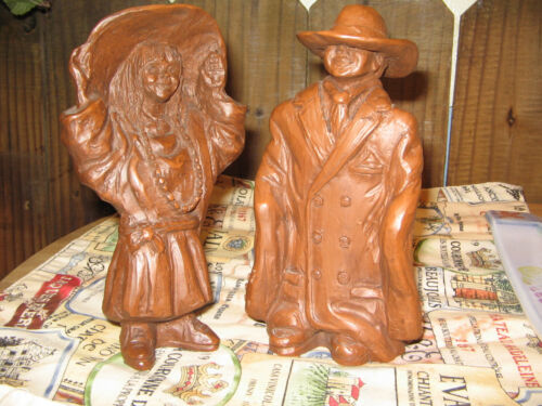 RED MILL BOY AND GIRL PAIR FIGURES PAM TALLEY STONEBURNER