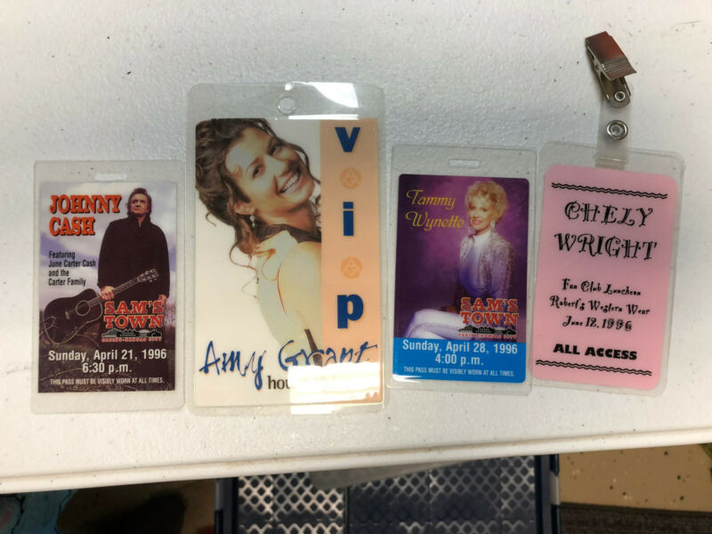Collectible Country Music Passes