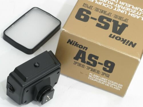 GENUINE NIKON OEM PARTS: AS-9 FLASH COUPLER IN BOX+SW-7 DIFFUSER FOR SB-16
