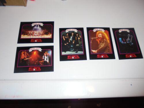 Lot of 5 Bon Jovi Trading Cards 1991 Mega Metal Jon Tico Torres Richie Sambora