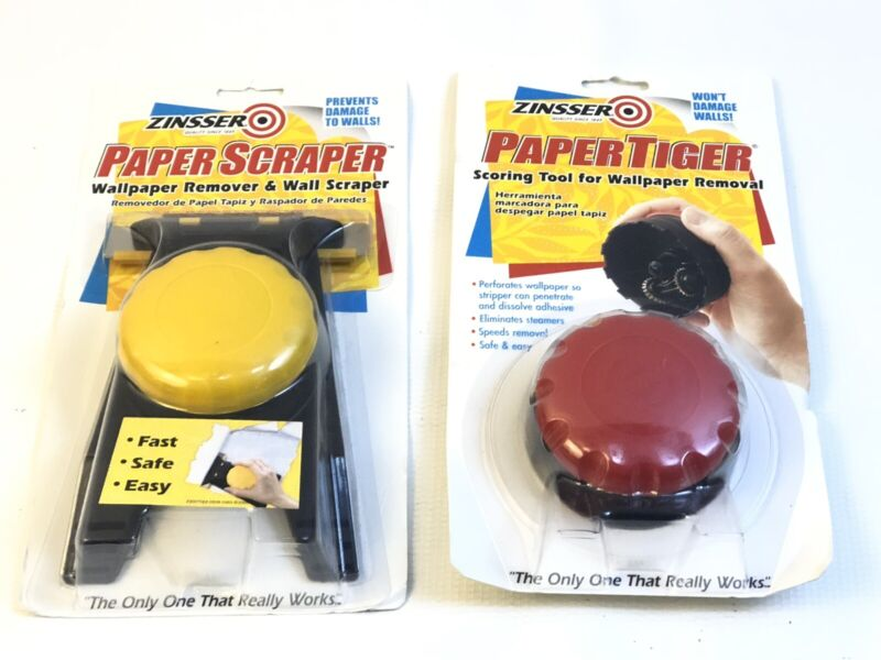 Zinsser Paper Scraper 02966 02982 02986 Paper Tiger For Wall Paper Removal NEW