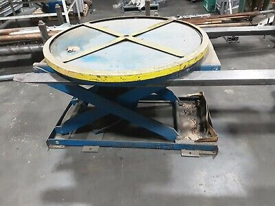 Pneumatic Lifting Table Pallet Carousel Positioner 593taw