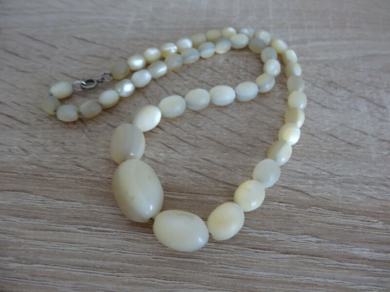 Antique Balamuti Mother of Pearl Bead Necklace