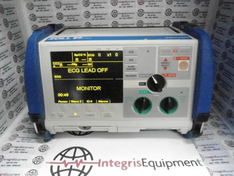 Zoll M Series Monitor - 3lead Ecg, Spo2, Etco2, Biomed Warranty
