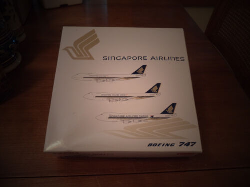 Jet-X Singapore Airlines B 747-412 1:400 JX601 Limited Ed 9V-SQU