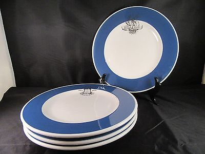 Set 4 Williams Sonoma English Bakery Marmalade Lunch Breakfast Plates Blue