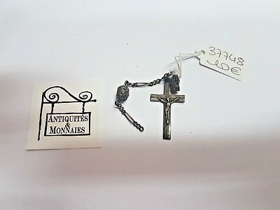 Pendant Religious Cross Jesus Christ And Charms Solid Silver REF37748