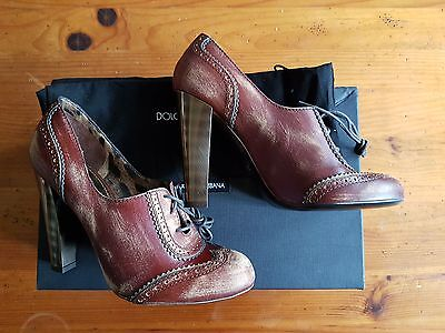 Ladies Dolce & Cabbana Designer Scavigliata Kenya Nappa Mordor Shoes  UK5.5